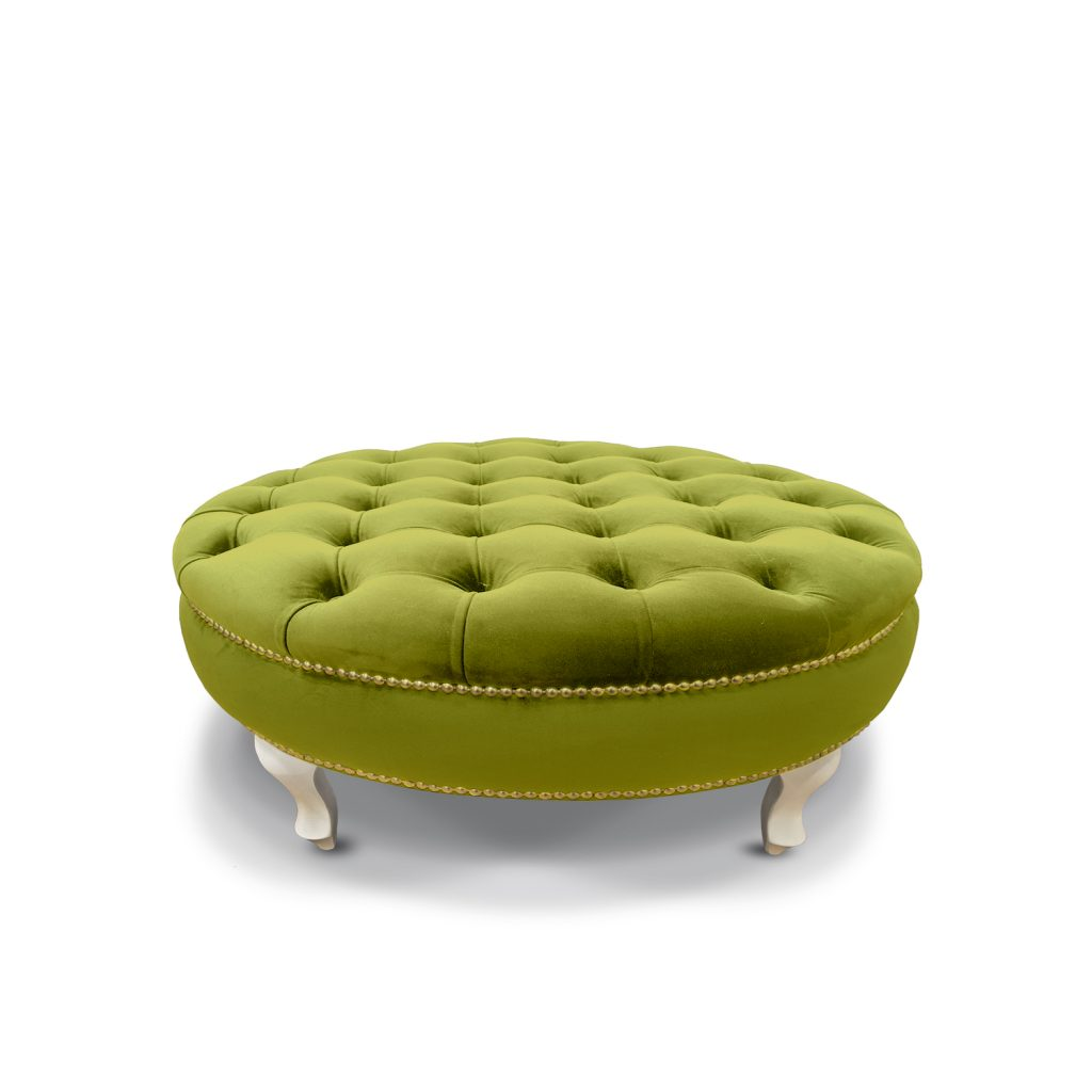Žaliosios citrinos spalvos apvalus pufas - Velvet 17
